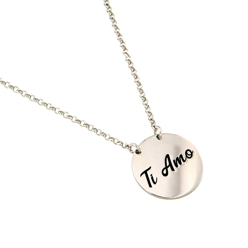 "JOY OF MY LIFE - COLLANA IN ARGENTO ""TI AMO"" - AMORE E BACI"